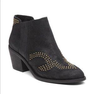 Lucky Brand Maiaa Studded Bootie Leather Black 6